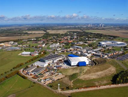 Aerial view of the Rutherford Appleton Laboratory
